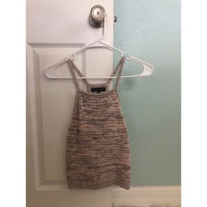 Cropped sweater tank top